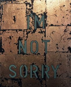 Zoe Grace, 'Im Not Sorry Bronze and Black', 2017
