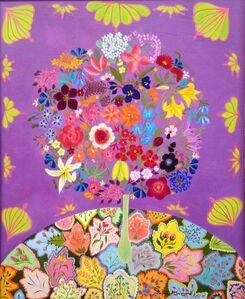 Hepzibah Swinford, 'Flowers with Patchwork', 2015
