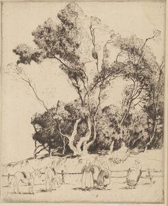 Alfred Hutty, 'Gossips, Ile de Noirmoutier', 1927