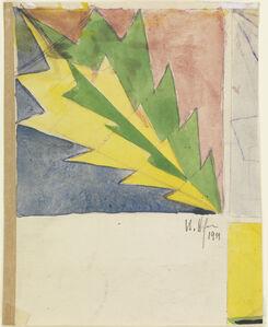 Vlastislav Hofman, 'Graphic Design with Inverted Tree Motif', 1911