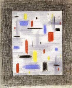 "Burgoyne Diller, '""Drawing"" (Untitled), CA', ca. 1940"
