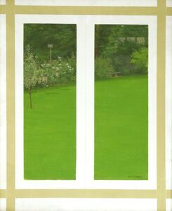 Margaret Green, 'TWO WINDOWS AND A GARDEN'