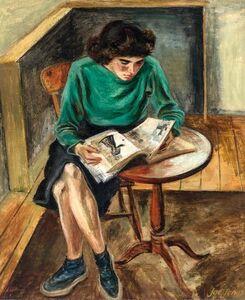 Joe Jones, 'Girl Reading', circa 1945