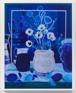 Daniel Gordon, 'Still Life with White Poppies with Blue Lemons', 2018
