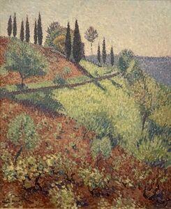 Henri Martin, 'Hill Of The L'atelier Of Henri Martin En Marqueyrol', ca. 1920