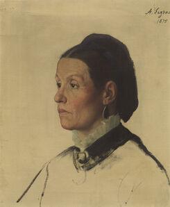 Alphonse Legros, 'Portrait of a Woman', 1875