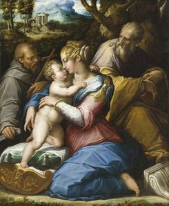 Giorgio Vasari, 'Holy Family with Saint Francis in a Landscape', 1542