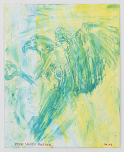 Leon Golub, 'Blue Green Raptor', 2002