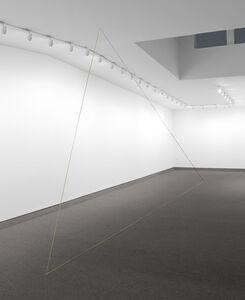 Fred Sandback, 'Untitled (Triangle with a Broken Leg)', 1988