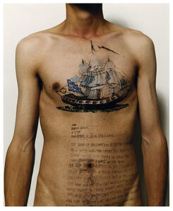 Ni Haifeng, 'Self-Portrait as Part of the Porcelain Export History 6 - Front with boats', 1999-2001
