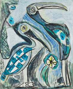 Oliver Chaffee, 'Two Pelicans', 1938