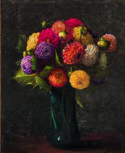 Henri Fantin-Latour, 'Dahlias', painted in 1874.