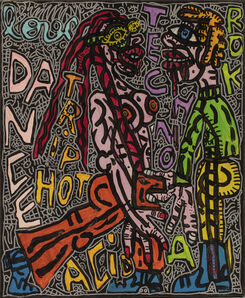 Robert Combas, 'LOVE DANCE TRIP HOT TECHNO ROCK ACID', 1995