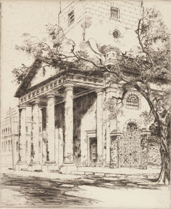Alfred Hutty, 'Old St. Michael's, Charleston', 1927