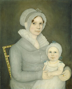 Frederick W. Mayhew, 'Mrs. John Harrisson and Daughter', ca. 1823