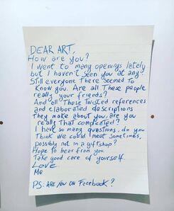 Blue and Joy, 'Dear Art...', 2016