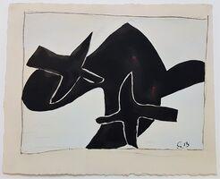 Georges Braque, 'Les Oiseaux Noirs from the Espace Portfolio', 1957