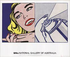 Roy Lichtenstein, 'Girl and Spray Can', 2013