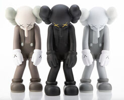 KAWS, 'Small Lie 2017 Edition (Full Set of 3 color Versions: Brown, Black & Grey)', 2017