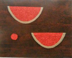 Rufino Tamayo, 'Sandias con Manzana ( Watermelons with Apple)', 1985