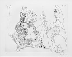 Pablo Picasso, 'MOUSQUETAIRE ET ODALISQUE, MEDUSE, PLATE 47 FROM SERIES 156 (BLOCH 1902)', 1970