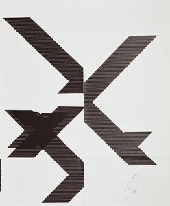 Wade Guyton, 'X Poster (Untitled, 2007, Epson UltraChrome inkjet on linen, 84 x 69 inches, WG1209)', 2013