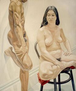 Philip Pearlstein, 'Standing Male, Sitting Female Nudes', 1969