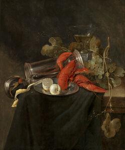 Jan Davidsz. de Heem, 'A still life with lobster, roemer, pewter tankard and a lemon', 1632