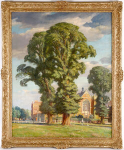 Francis Dodd, 'Elm Tree in the Suburbs'