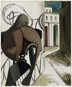 Giorgio de Chirico, 'Les contrariétés du penseur (The Vexations of the Thinker)', 1915