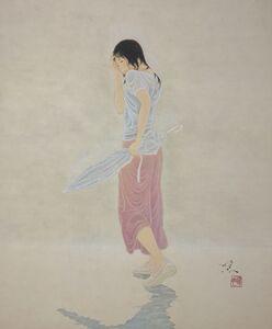 Yoji Kumagai, 'A Girl With Umbrella', 2019