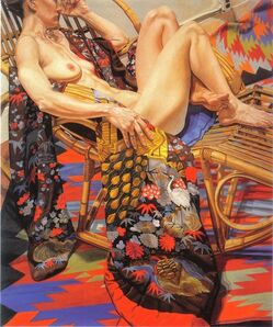 Philip Pearlstein, 'Nude with Peacock Kimono', 1988