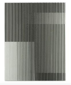 Yu Yang  于洋 (b. 1979), 'White Grey Black Color Geometric Abstract', 2018