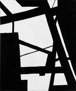 Nicole Yates, 'Black and White Abstract 1'