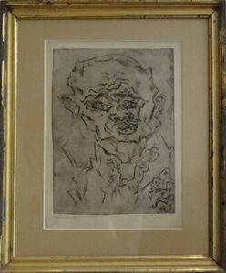"""Otto Pankok, '""""Taubstummer IV""""', 1921"""