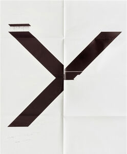 Wade Guyton, 'X Poster (Untitled, 2007, Epson UltraChrome inkjet on linen, 84 x 69 inches, WG1211), 2019 ', 2019