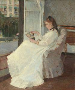 Berthe Morisot, 'The Artist's Sister at a Window', 1869