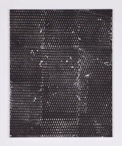 Clemens Wolf, 'Expanded Metal Painting (black and white)', 2017