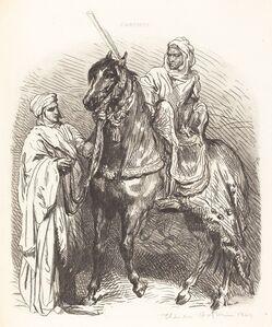 Théodore Chassériau, 'Arab Mounting', 1849