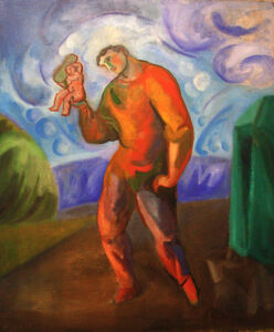 Sandro Chia, 'Figura con Bambino', 2005