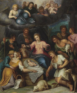 Otto van Veen, 'The Adoration of the Shepherds'