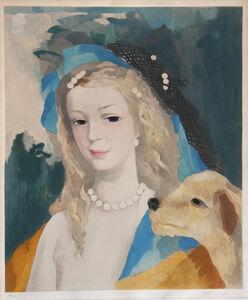 Marie Laurencin, 'Jeune Fille avec Chien ', ca. 1950