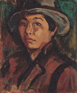Hung Rui-Lin 洪瑞麟, 'Portrait of the Artist', 1932