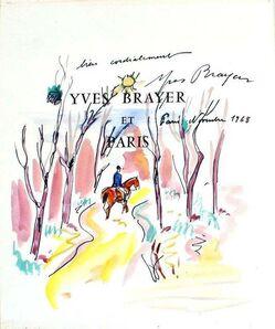 Yves Brayer, 'Chevalier dans le ois', 1968