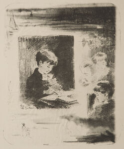Félix Hilaire Buhot, 'Enfant dessinant (Jean Buhot)'