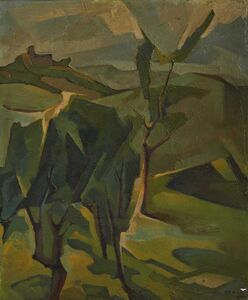 Tullio Crali, 'Piedmont hills', executed in 1947
