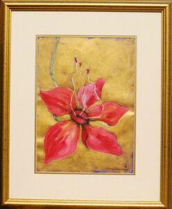 Subhaprasanna Bhattacharjee, 'Illusion-Still Life in bright red, a flower with its pollen talks of procreation', 2006