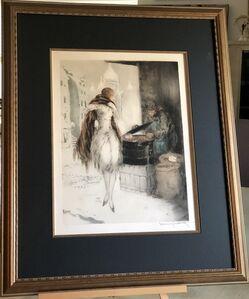 Louis Icart, 'Chestnut Vendor', 1928