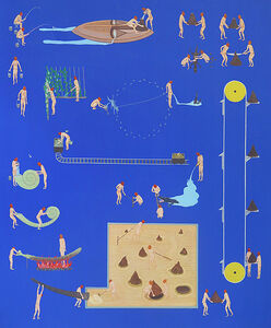 Akira Ikezoe, 'Coconut Heads with Water and Sand', 2019