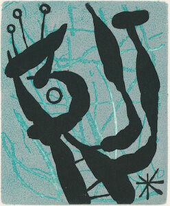 Joan Miró, 'Suite La Bague D'Aurore - plate 20', 1957